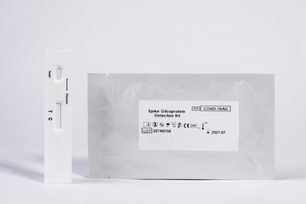 Casete test antígenos saliva