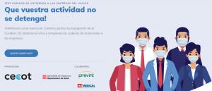 Cribado masivo test antigenos covid en empresas de Cataluña